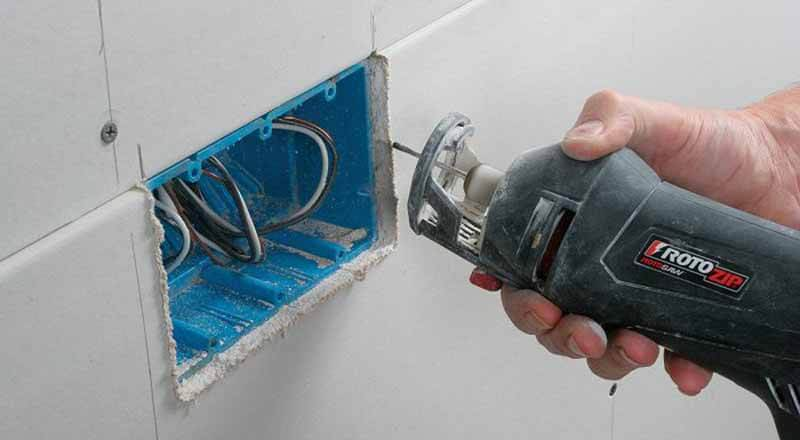 how to cut drywall on wall