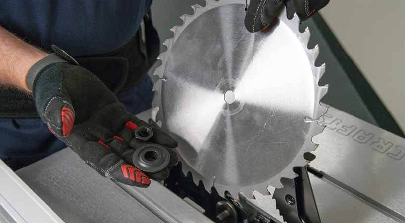 how to replace table saw blade