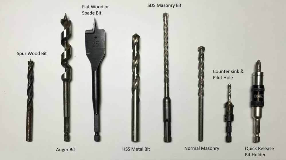Wood vs metal drill bits